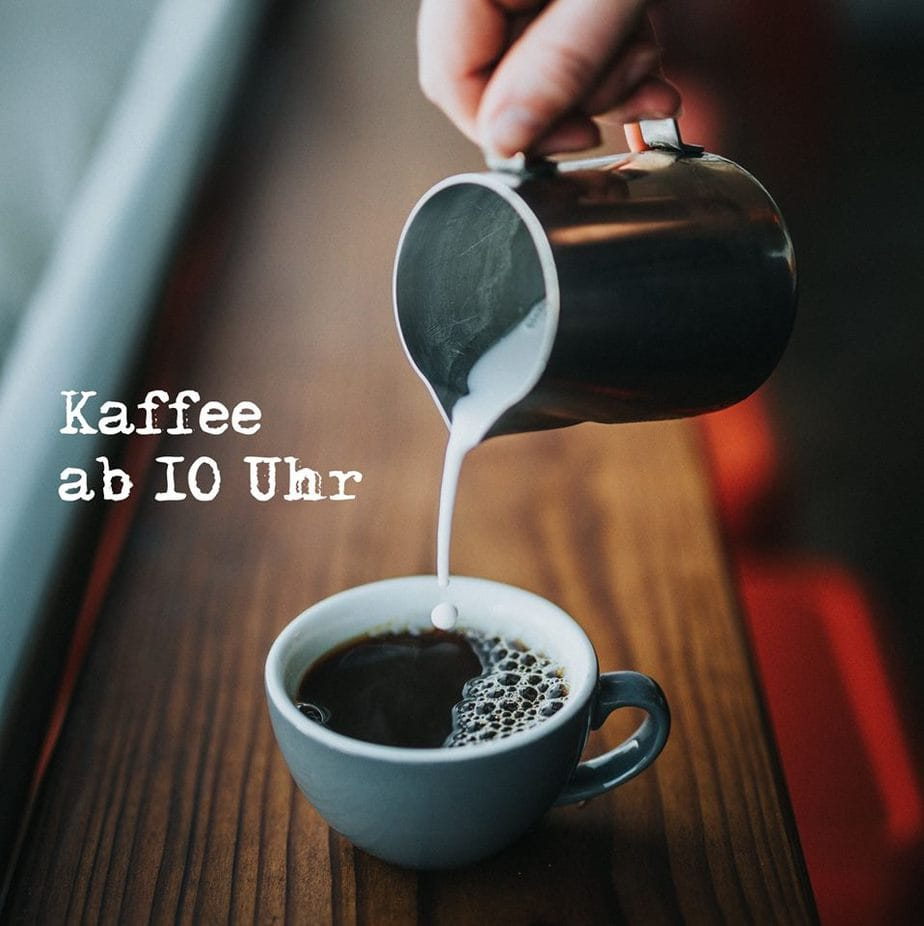 Kaffee-Bar am Sonntag