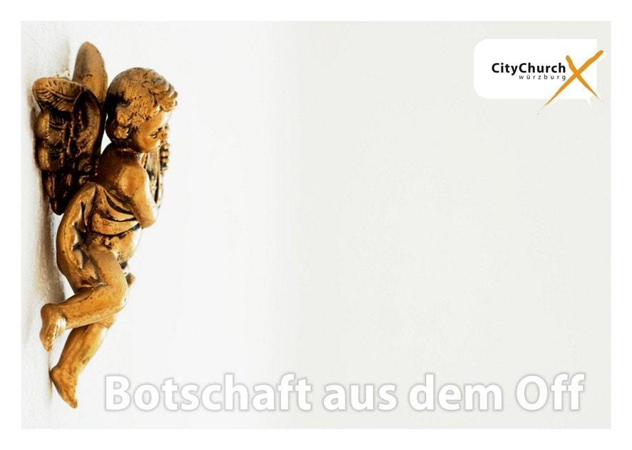 """Flyer """"Botschaft aus dem Off"""""""