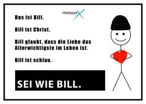 """Flyer """"Sie wie Bill!"""""""