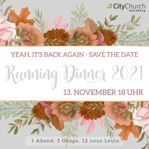 Read more about the article Running Dinner / 13. November