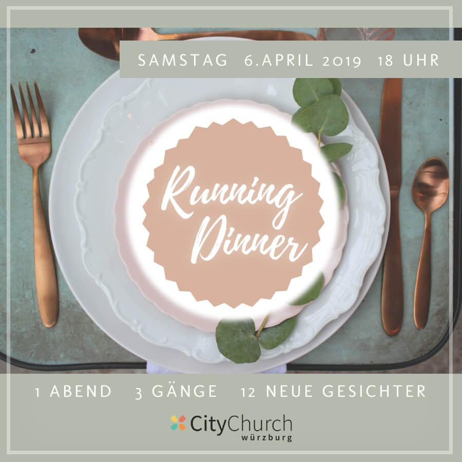 Jetzt anmelden: Running Dinner 6. April